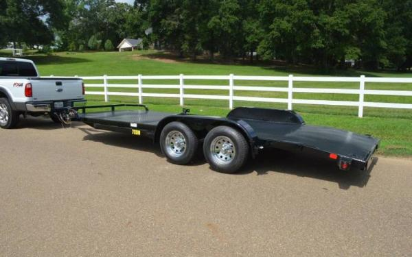 "Big Tex 83""x18' Tandem Axle Diamond Back Auto Hauler"