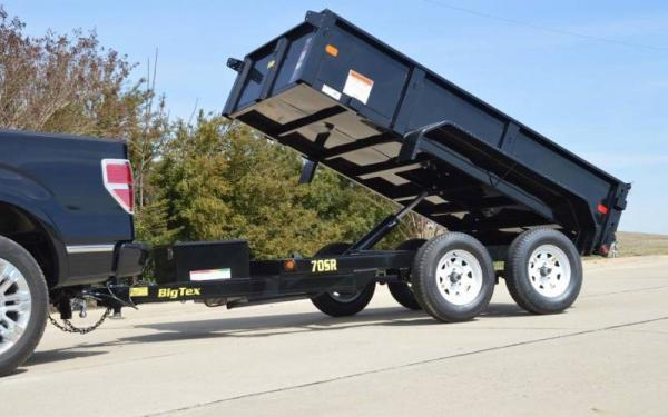 "Big Tex 60""x10' Tandem Axle Single Ram Dump"