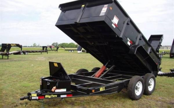 Big Tex 12' Tandem Axle Low Profile Extra Wide Dump