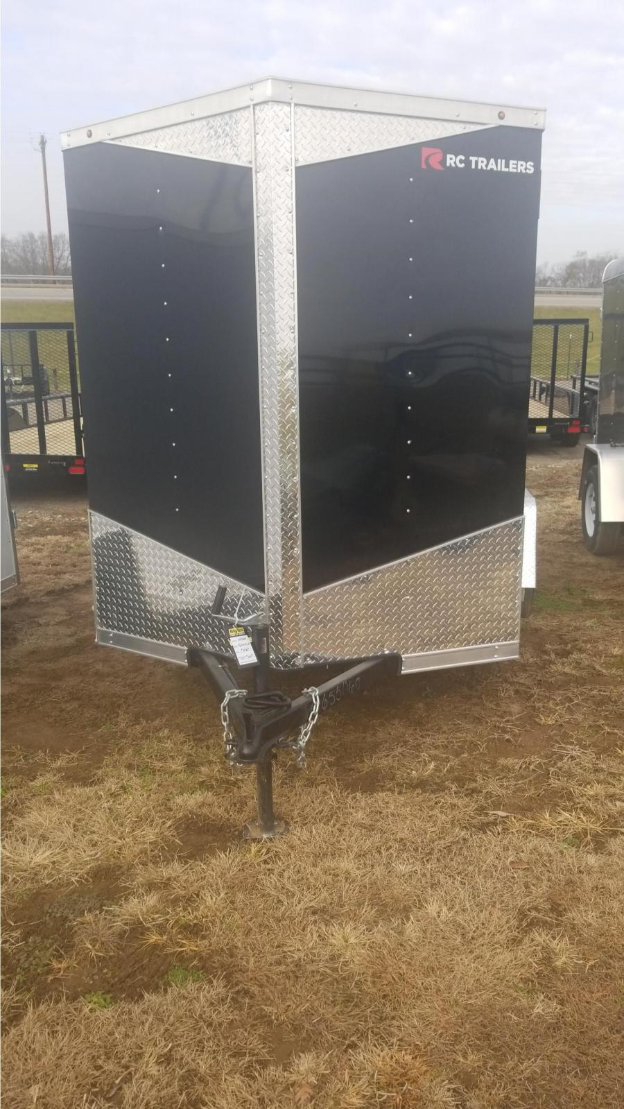 6 x 10 Single Axle FLAT TOP WEDGE ENCLOSED TRAILER BY RC TrailersE