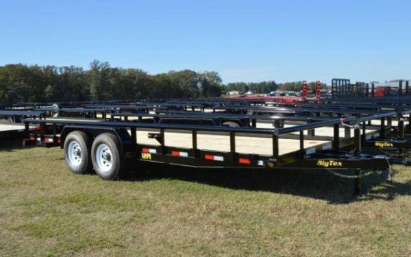 "Big Tex 83""x18' Heavy Duty Pipe Tandem Axle Equipment Trailer"