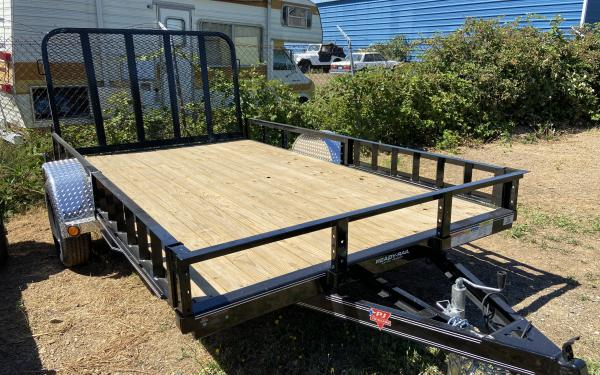 PJ Trailers 7'x14' Single Axle Utility Trailer 5.2k axle