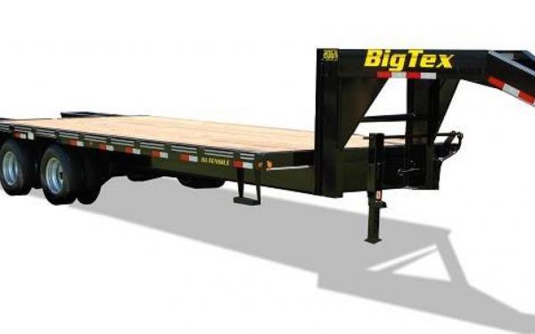 """Big Tex 102""""x20'+5' Tandem 20,000# Gooseneck"""