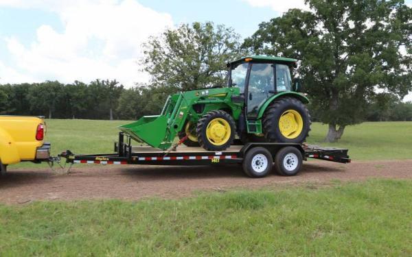 14ET-18' Big Tex Equipment Trailer W/ MEGA RAMPS