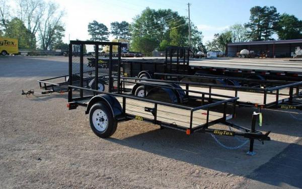 "Big Tex 60""x10' Single Axle Utility Trailer w/Rampgate"