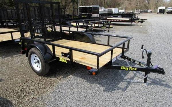 "Big Tex 60""x8' Single Axle Utility Trailer"