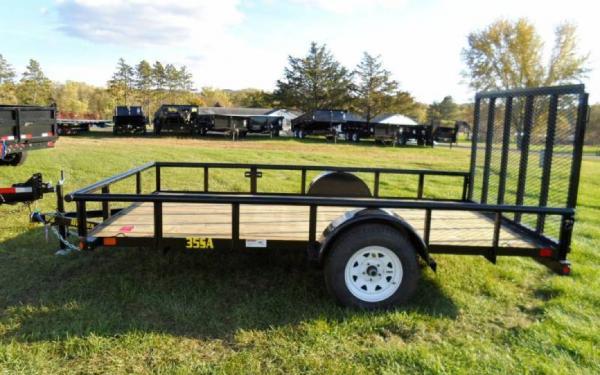 "Big Tex 77""x12' Single Axle Utility Trailer"