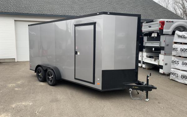 2020 Covered Wagon 7x16 Ramp door 7' tall screwless skin blackout