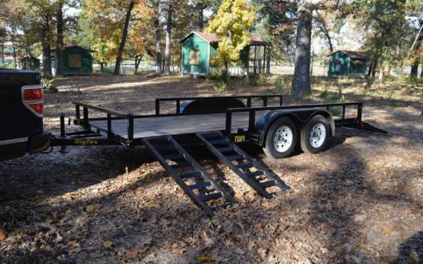 Big Tex 18' Tandem Axle Pipe Utility Trailer