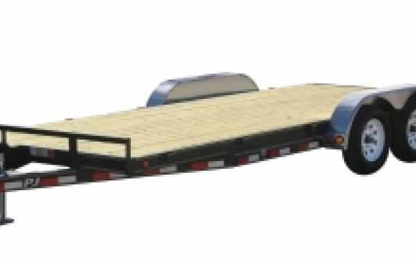 "PJ Trailers 16' 5"" Channel Carhauler 5' Slide In Ramps"