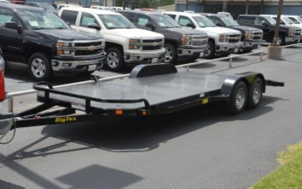 Big Tex 70DM-18BK Tandem Axle Steel Deck Car Hauler