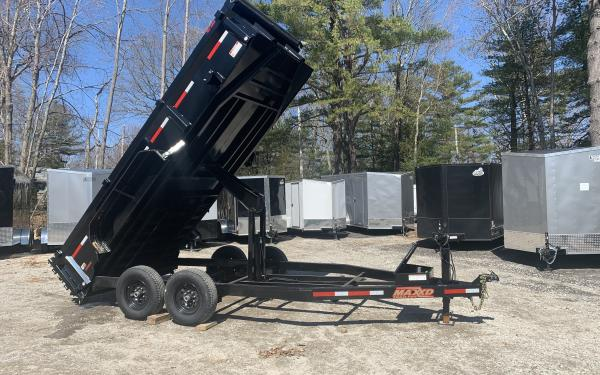 2020 Maxxd DLX 83x16 Low Pro dump trailer 22inch deck height w/ramps, d-rings, and tarp kit