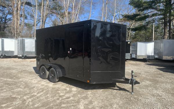 2020 Look STLC 7x14 DLX Ramp door 7ft tall Cargo trailer Blackout