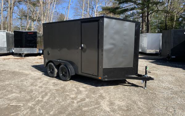 2020 Look STLC 7x12 DLX Ramp door Dual axle cargo trailer blackout