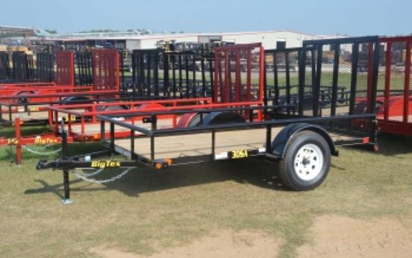 5' x 8' Single Axle Utility Trailer w/ 4' Rampgate, Spare Mount & Spare Tire