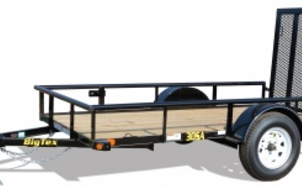 14' S/A Utility Trailer w/ Spare Mount & 4' Rampgate