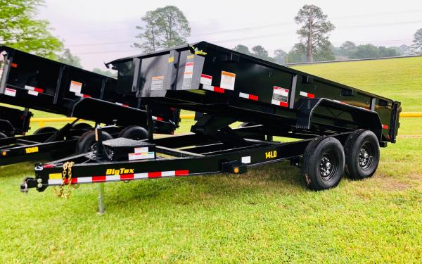 "Big Tex 14LD 83"" x 14 Heavy Duty Ultra Low Profile Dump"