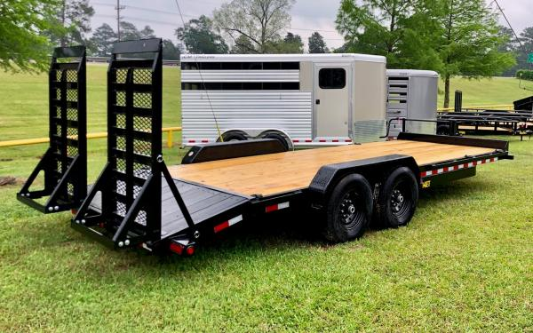 14,000# 14ET-22 Equipment Trailer with Super Wide Ramps & Blackwood Dovetail