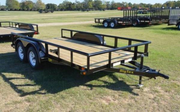 2019 Big Tex 70PI Tandem Axle Pipe Utility Trailer