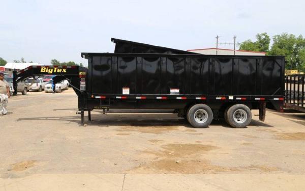 Big Tex 25DU-20BK8SIR Tandem Dual Gooseneck Dump Trailer