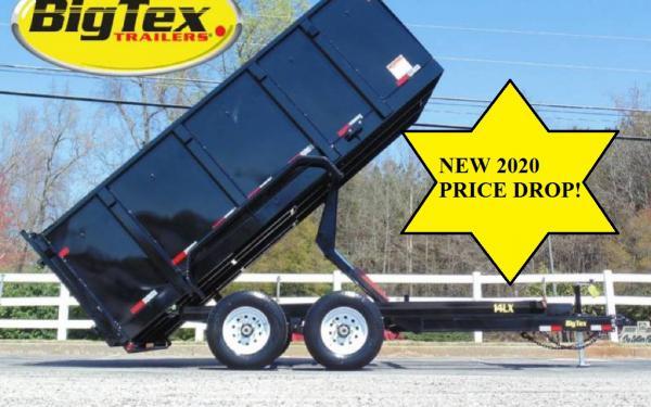 2020 14k BIG TEX DUMP TRAILERS! 4 FOOT WALLS! STARTING AT $8860!