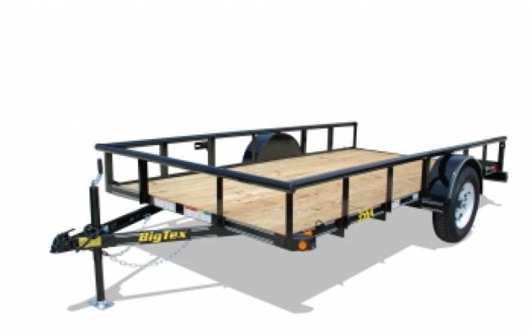 NEW 2017 Big Tex 35SA-14  Single Axle 6 1/2' x 14'  Utility Trailer