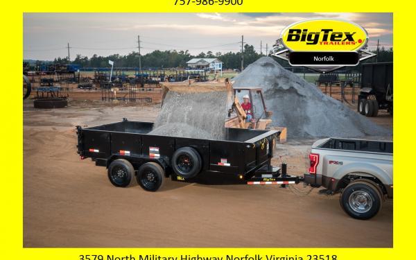 2019 Big Tex 16LX Dump Trailer, 7x14 & 7x16 with 8K Axles Starting at $11500