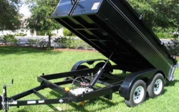 NEW 2107 Triple Crown  6' x 12' 10K Low Rider Dump Trailer