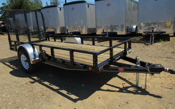 PJ Trailers 6.5'x12' Single Axle Utility Trailer k1