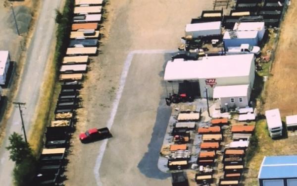 PJ Trailers 7'x12' Tandem Axle Utility Trailer 4551 S9
