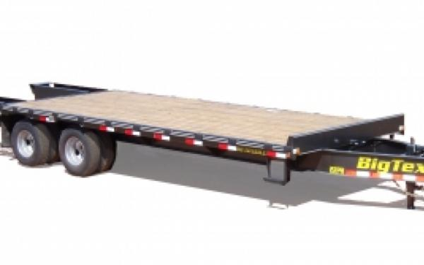 NEW 2107 Big Tex 20PH-20+5  Pintle Hook Tandem Axle Trailer