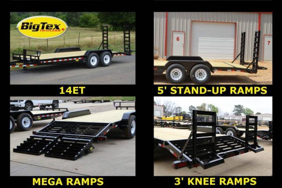 14ET 20 ft Heavy Duty Equipment Hauler W/Slide In Ramps