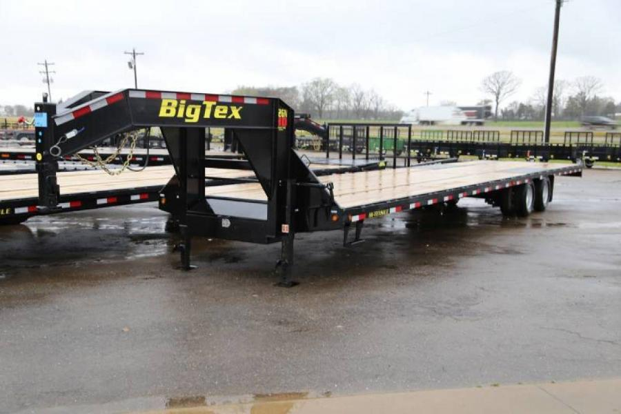 Trailer World Big Tex 22gn 40 Tandem Dual W Straight Deck Tow Harness Self Center Gooseneck Pintle Trailers Listing Detail
