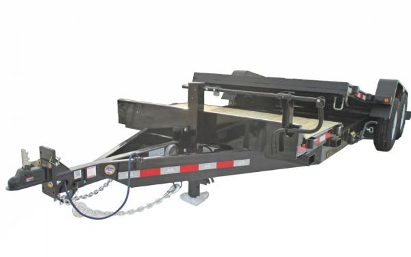 B & B 20 FT TANDEM AXLE TILT DECK TRAILER