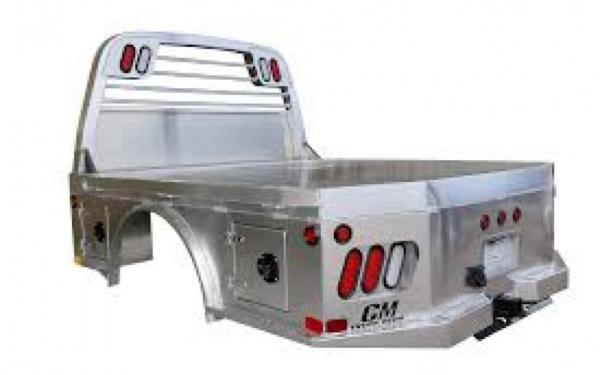 AL SK Aluminum Skirted Truck Bed by CM Truck Beds w/ B&W GN Hitch & Bumper Hitch, Underbody Toolboxes, LED Lights
