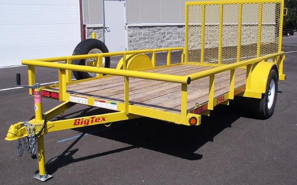 35SA-12ft Big Tex Utility Trailer FOR RENT $50.00 Per Day