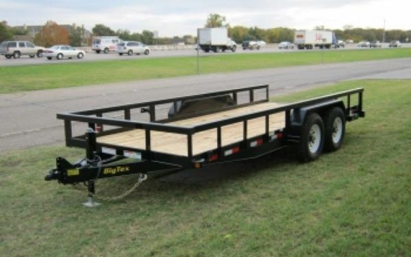 Big Tex 14PI-20BK  Square Tube Railing Equipment Trailer