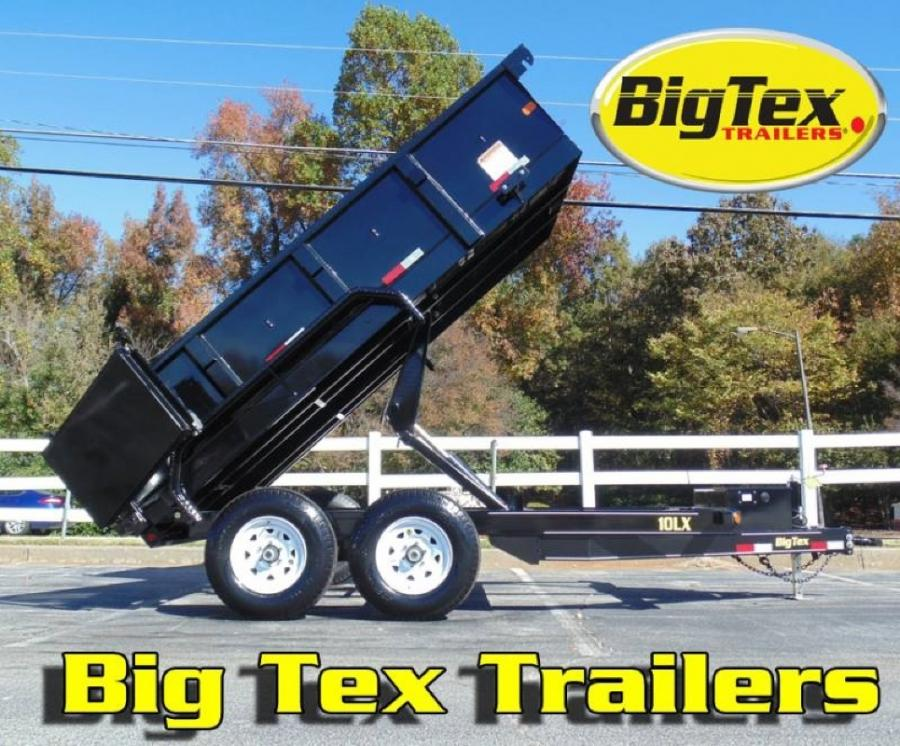 Big Tex 10LX Pro Series 12ft Dump Trailer w/ Scissor Hoist, Ramps, Powder Coated 10LX-12BK7SIR