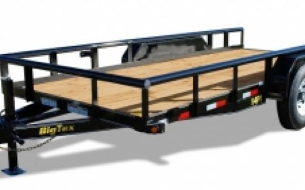 Big Tex 14PI-18BK Square Tube Railing Equipment Trailer