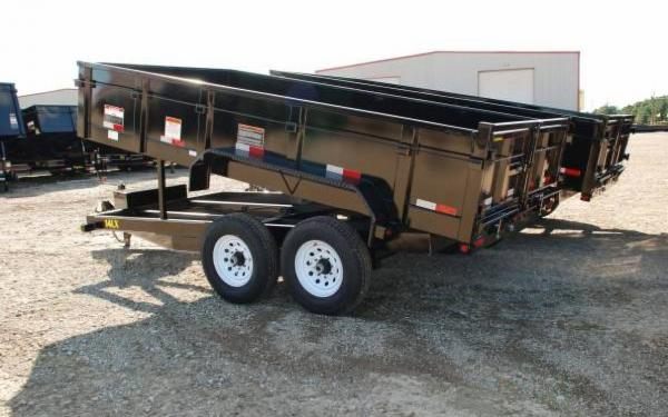 Tandem Axle Low Profile Extra Wide Dump Trailer