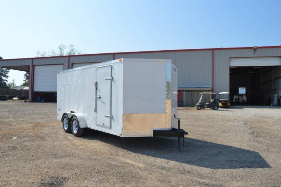 -Texan Cargo 7x16 Tandem Axle w/Ramp Door-