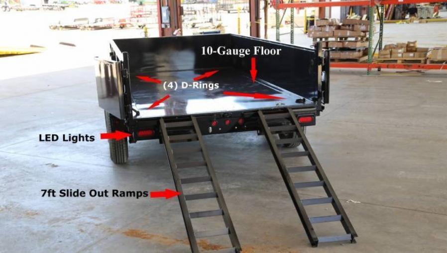 -14ft Heavy Duty Scissor Lift Dump w/Ramps-