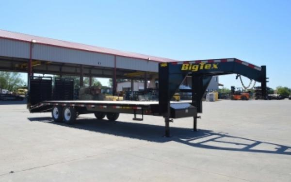 Big Tex 14GN-25BK+5MR Single Wheel Gooseneck Trailer w/ Mega Ramps