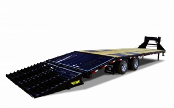 Big Tex 22GN-25BK+5MR Tandem Dual Gooseneck Trailer w/ Mega Ramps
