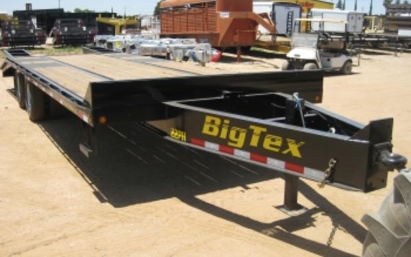 22PH-25BK+5 Pintle Hook Big Tex Tandem Dual Axle Trailer