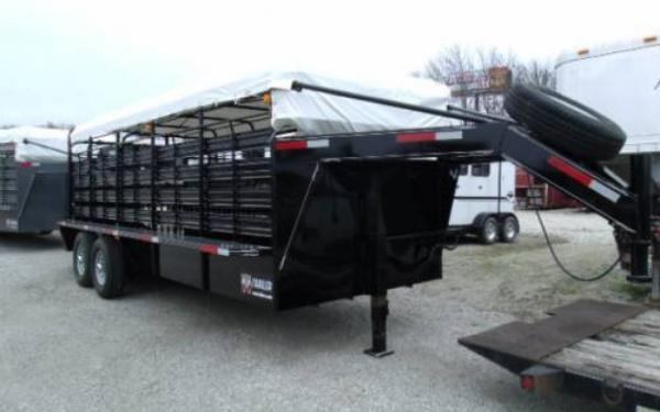 2016 WW 6'8X20 ROUSTABOUT LIVESTOCK TRAILER