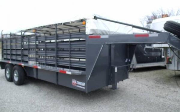 2015 WW 6'8 X 20 ROUSTABOUT STOCK TRAILER