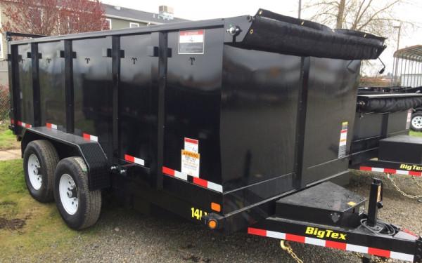 14LX Big Tex 14K Heavy Duty Extra Wide 14' Dump Trailer w/ 4' Sides