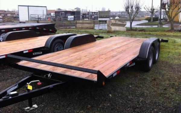 Eagle ETB718TA3 7' x 18' Tandem Axle Tilt Trailer