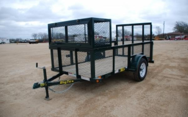 30LS-10BK Big Tex Single Axle Landscape Trailer